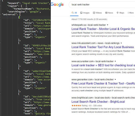 Search Engine Result Example