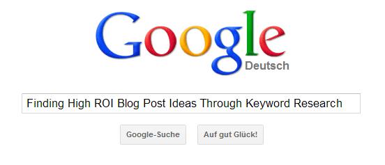 Google Keyword Tool (GKT):
