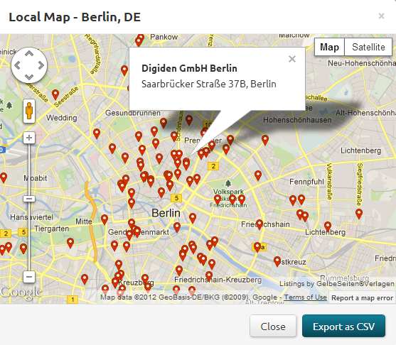 Using KeySR to sort local SERP rankings on Google Maps