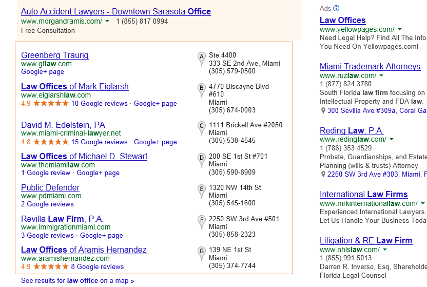 Local SEO citations sources for law office